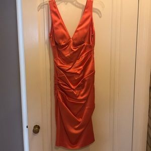 Beautiful cache salmon colored formal dress size 2